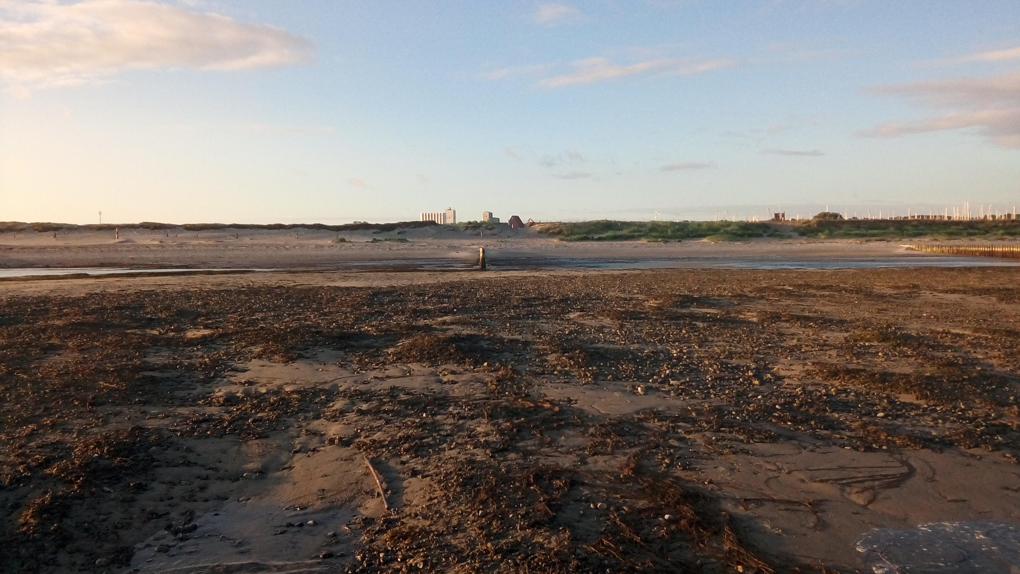 Östliches Testbuhnenfeld, kein Schutz des Strandwalls bei HW